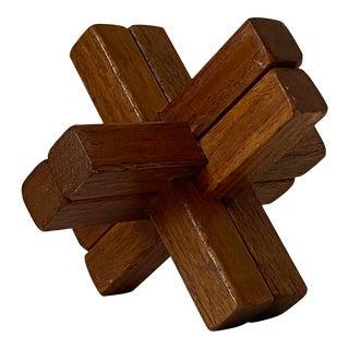 "Wood ""Fist"" Sculpture For Sale"