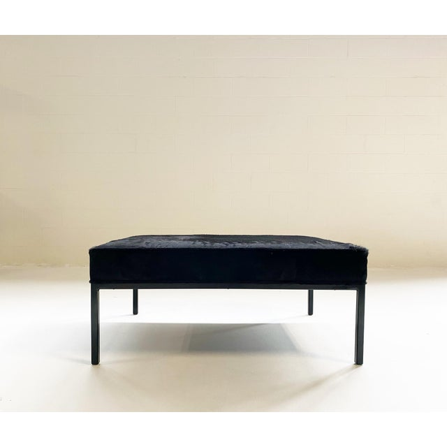 Modern The Forsyth Ottoman in Brazilian Cowhide For Sale - Image 3 of 13
