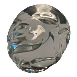 Mid-Century Steuben Glass Rat Paper Weight For Sale