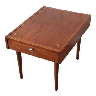 Merton Gershun for American of Martinsville Mid-Century Modern Walnut Nightstand/End Table