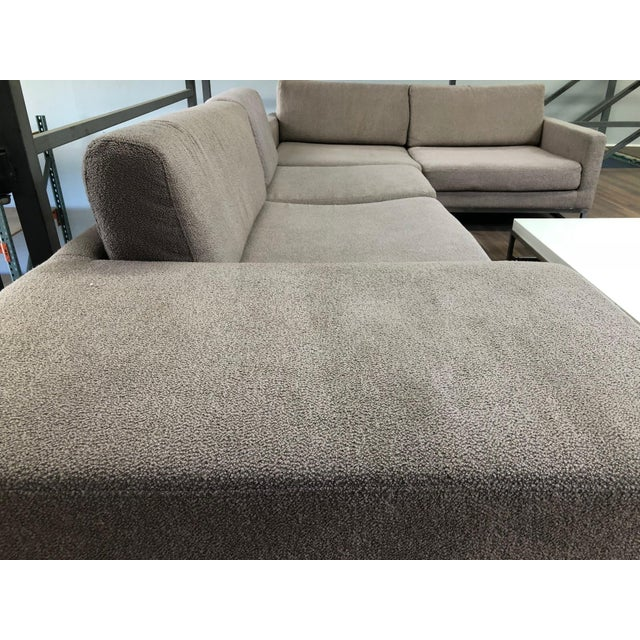 Ligne Roset Styled Sectional Modern Sofa With Chrome Base For Sale - Image 9 of 13