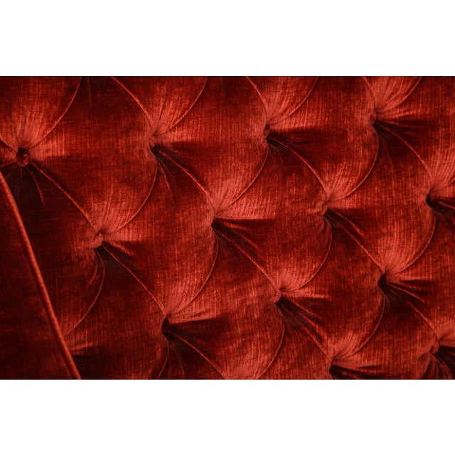 Textile 1960s Vintage Tufted High Back Settees- A Pair For Sale - Image 7 of 8