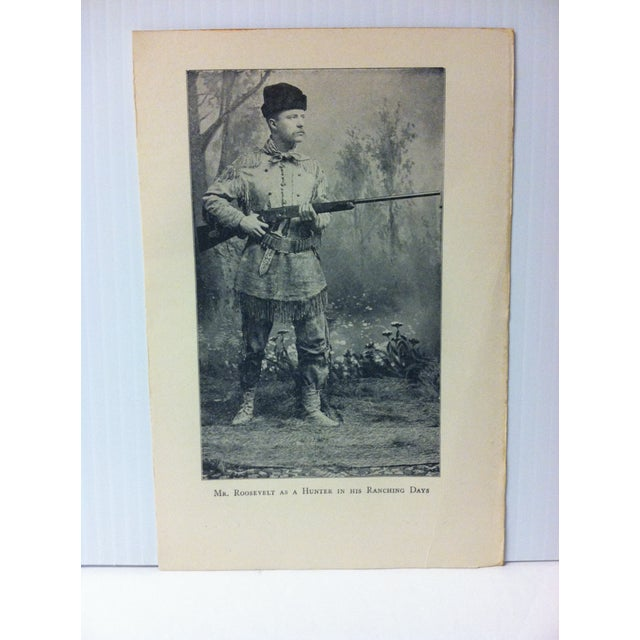 """This is an Antique Print on Paper showing an Event from the Life of Theodore Roosevelt that is titled """"Mr. Roosevelt as a..."""