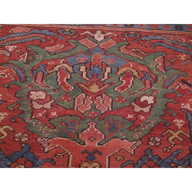 Antique Oushak Carpet For Sale In New York - Image 6 of 8