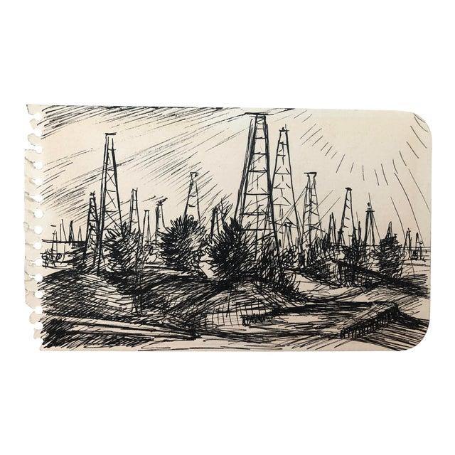 """Oil Field, Kilgore, Texas"" by William Palmer, 1944 For Sale"