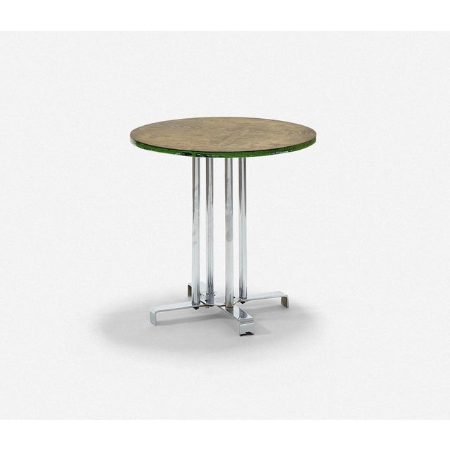 Alfons Bach Vintage Wood and Tubular Steel Side Table Designed by Alfons Bach for Lloyd Loom Products For Sale - Image 4 of 6