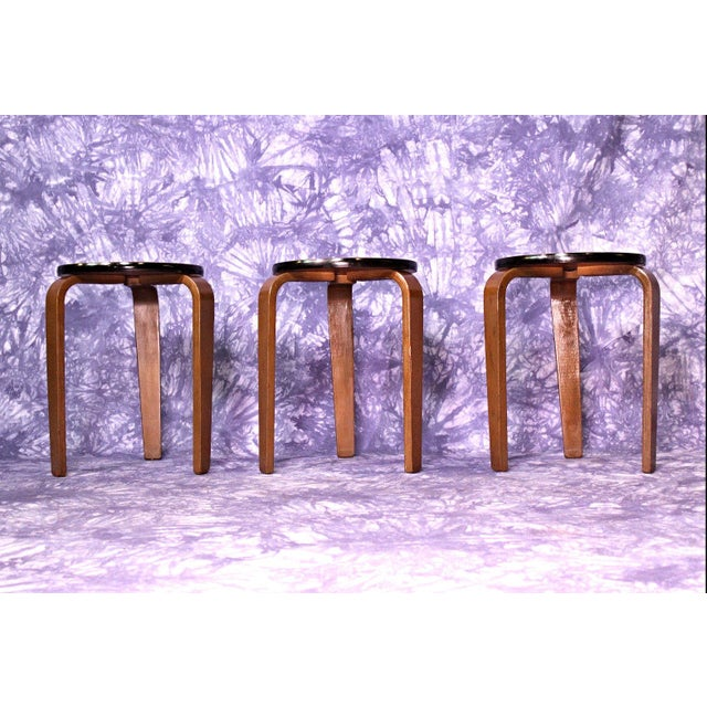 Brown James Mont Art Deco Nesting Tables - Set of 3 For Sale - Image 8 of 10