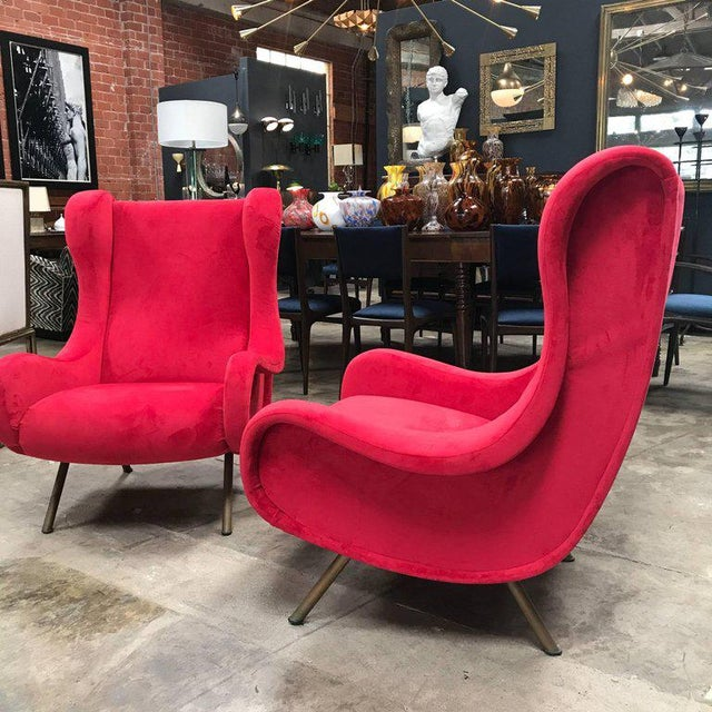 1950s 1960s Pair of Marco Zanuso Senior Armchairs for Arflex For Sale - Image 5 of 9