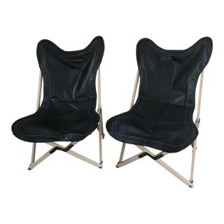 Folding Butterfly Chairs - A Pair