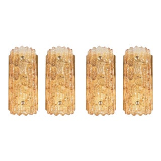 Mid-Century Modern Set of 4 Sconces by Carl Fagerlund for Orrefors For Sale