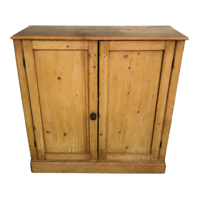 19th Century English Pine Cabinet For Sale