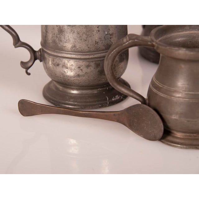 Modern English Pewter Pieces with Maker Stamps Circa 1850 - Set of 11 For Sale - Image 3 of 11