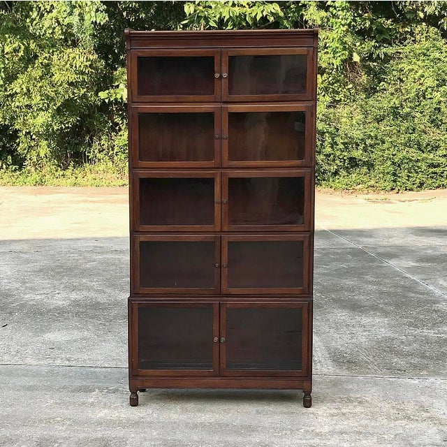 Antique English Mahogany Bookcase ~ File Cabinet For Sale - Image 4 of 12