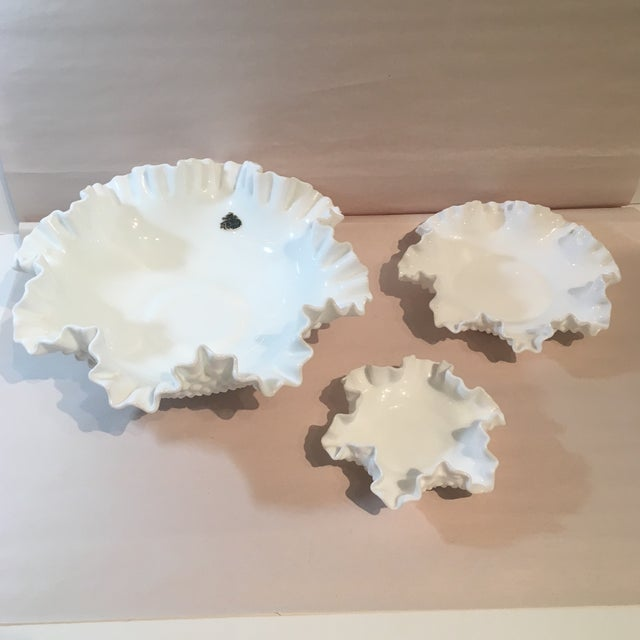 This Fabulous Fenton Hobnail Milk Glass Bowls would make the perfect addition to any table top or kitchen dining area for...