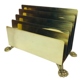 Solid Brass Desk Letter Holder For Sale