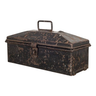 Metal Toolbox With Original Finish C.1930 For Sale