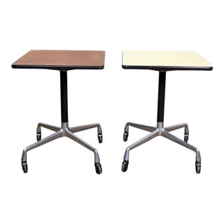 Vintage Eames for Herman Miller Square Rolling Side Table Universal Base 2 Available For Sale