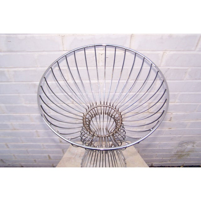 Vintage 1960s Steel Wire Sculptural Plant Stand - Image 7 of 9