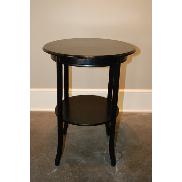Black Round Side Table - Image 2 of 5