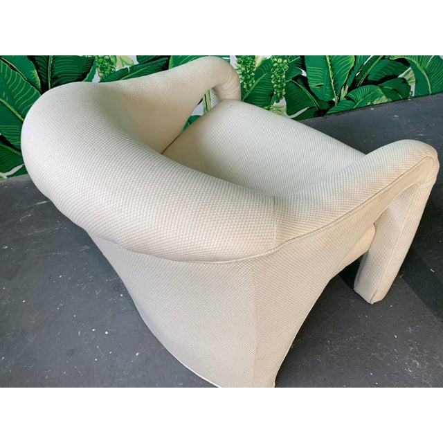 Pair of Vladimir Kagan Sculptural Club Chairs For Sale - Image 6 of 11