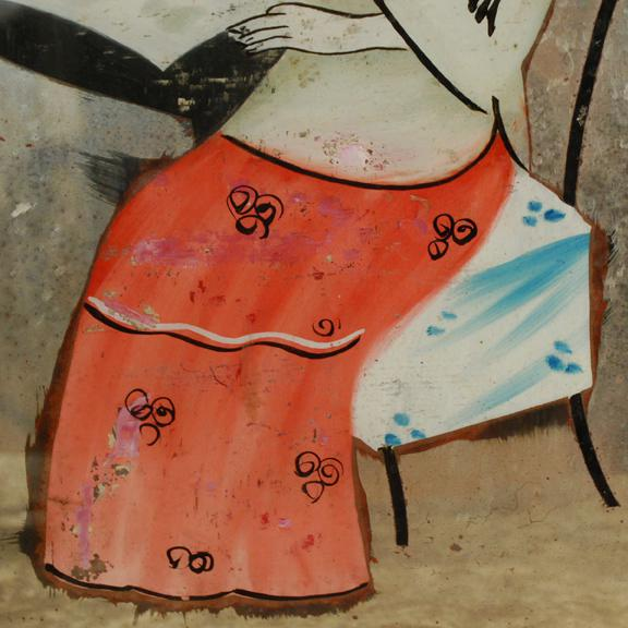 Asian Chinese Reverse Glass Painting For Sale - Image 3 of 4