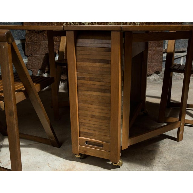 Drop Leaf Veneer Dining Set - Image 8 of 11
