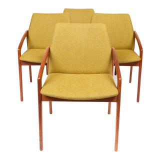 Vintage 1960s Kai Kristiansen Paper Knife Dining Chairs - Set of 4 For Sale