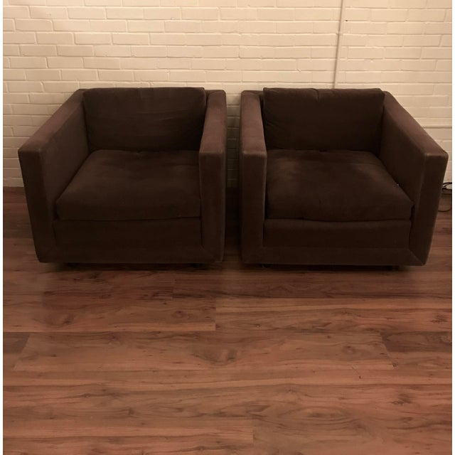 1980's Tuxedo Style Club Chairs - Image 4 of 9