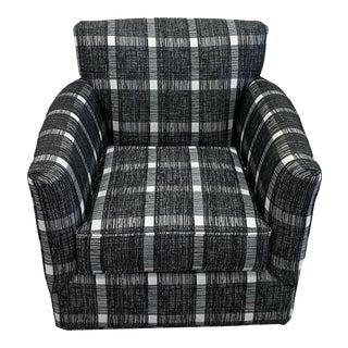 Buffalo Check Swivel Chair For Sale