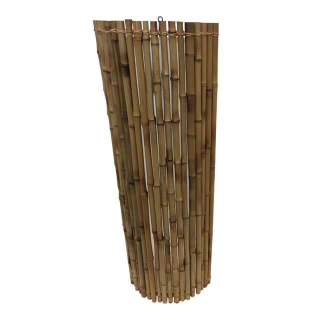 Balinese Bamboo Wall Sconce For Sale