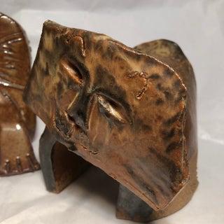 Vintage Ceramic Cat Sculptures Signed 2 Preview