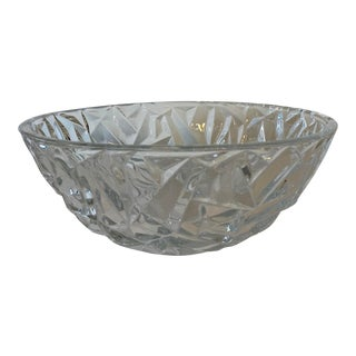 Tiffany & Co Contemporary Geometric Cut Crystal Bowl With Original Gift Box For Sale