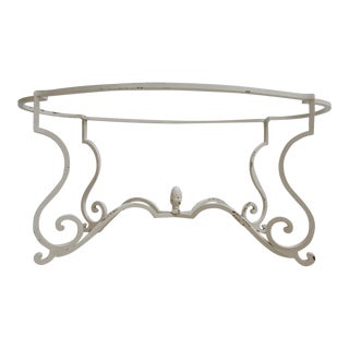 Vintage Wrought Iron French Regency Coffee Table Base