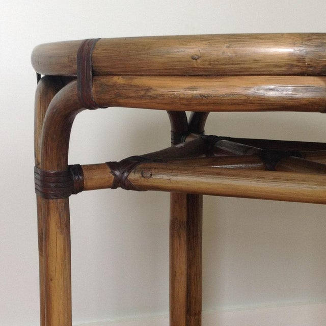 Bentwood & Rattan Side Table - Image 5 of 8