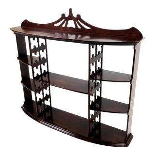 Antique Mahogany Curio Shelf Unit Display Case For Sale