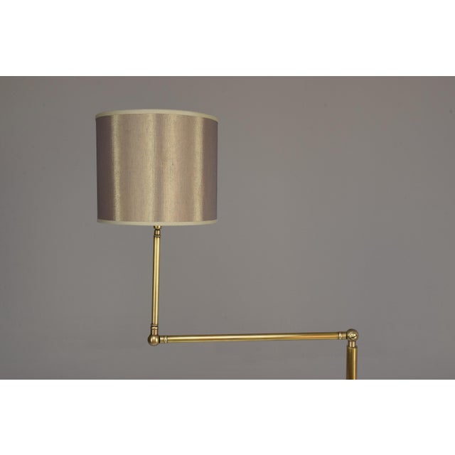 20th Century French Brass Floor Lamp, 1960's For Sale - Image 6 of 12