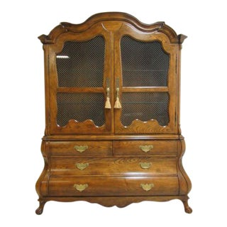 Baker Furniture Country French Bombay China Cabinet Breakfront Hutch Curio For Sale