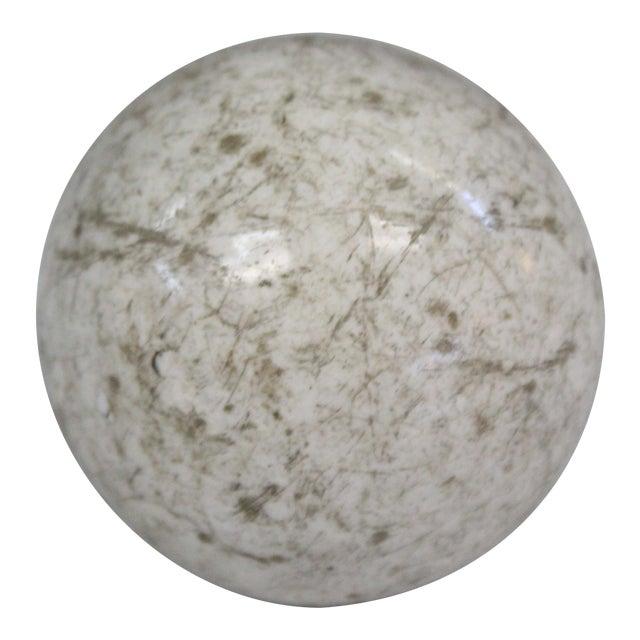 Victorian White Carpet Ball For Sale