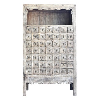 19th Century Chinese Apothecary Cabinet, White