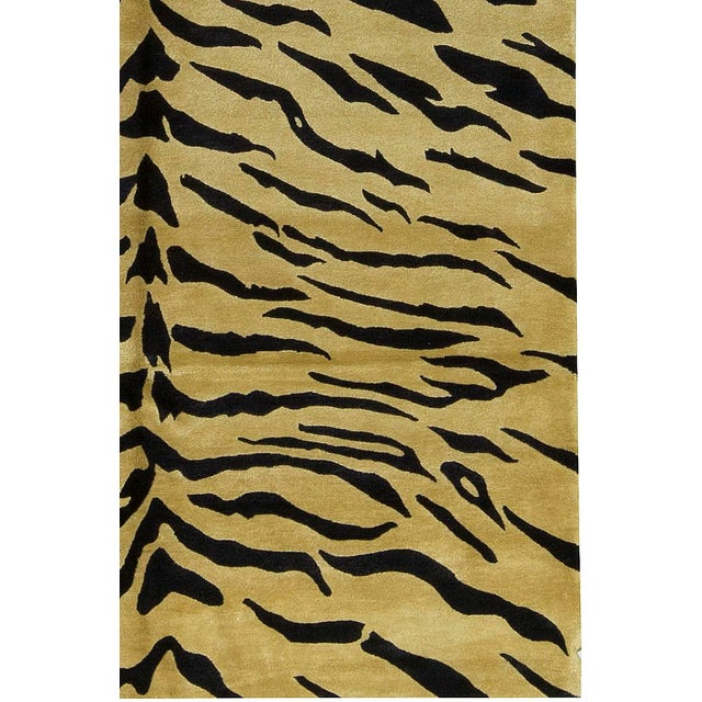 """Contemporary Contemporary Hand Woven Rug - 6'2"""" x 9'1"""" For Sale - Image 3 of 4"""