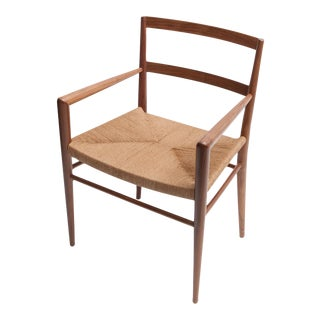 Hand Woven Rush Seat Dining Chair by Smilow Furniture For Sale