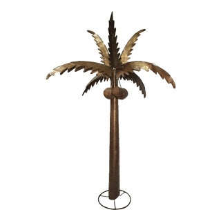 Monumental Metal Palm Tree Sculpture For Sale