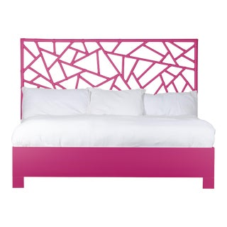 Tiffany Bed King - Bright Pink For Sale