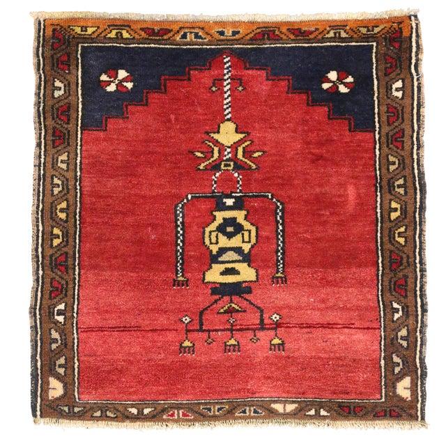 Vintage Turkish Oushak Rug with Modern Style -- 2'10 x 2'10 - Image 1 of 6