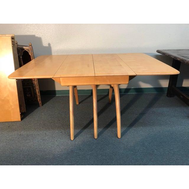 Heywood-Wakefield Drop Leaf Dining Table - Image 7 of 11