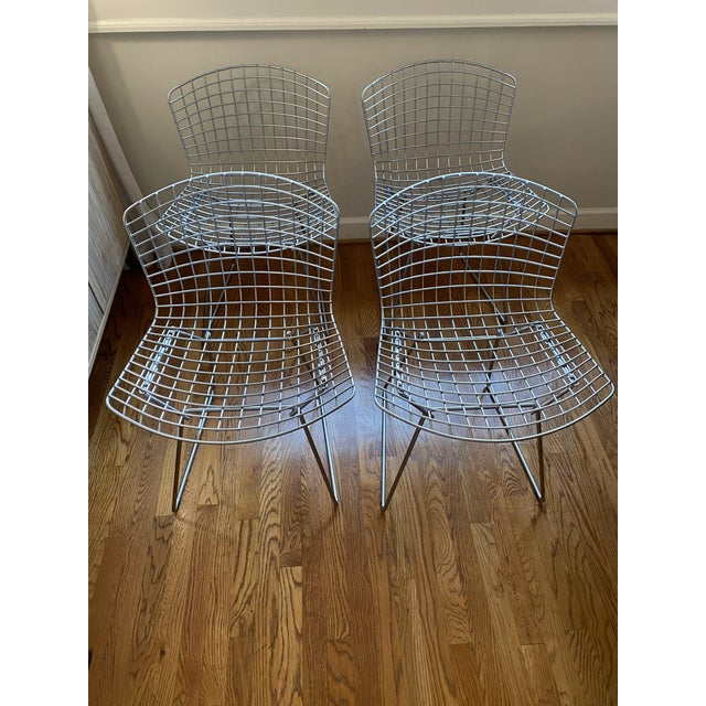 Danish Modern Knoll Bertoia Chairs - Set of 4 For Sale - Image 3 of 5