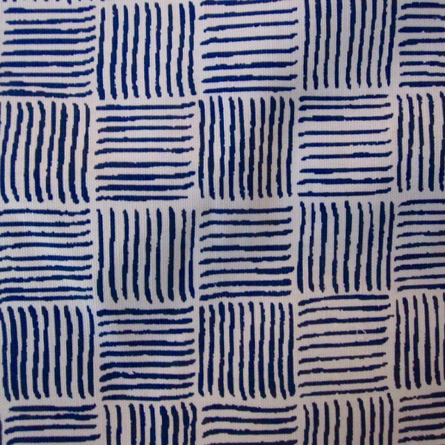 "Alan Campbell for Quadrille's ""Textura I"" in China Seas French Blue Fabric - 8 Yards For Sale"