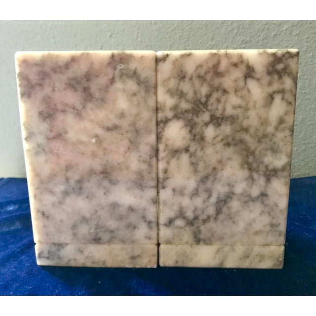 Italian Vintage Himark Italian Marble Geometric Ball Classic Bookends - Pair For Sale - Image 3 of 8