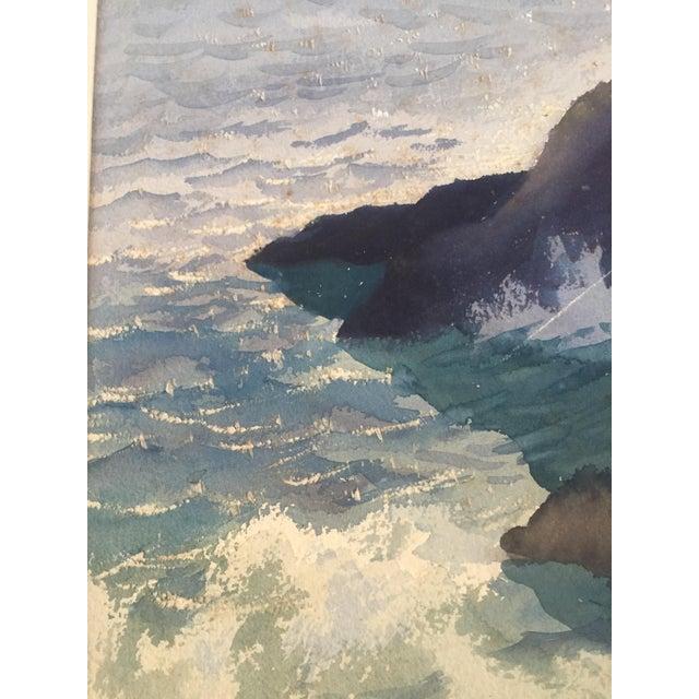 David L. Swasey Original Palais Bourbon, Paris on Reverse Side Watercolor Seascape Painting For Sale - Image 4 of 13