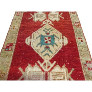 """Vintage Turkish Red Rug-1'10'x3'1"""" Preview"""